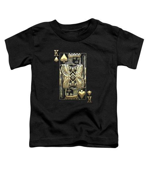 King Of Spades In Gold On Black   Toddler T-Shirt