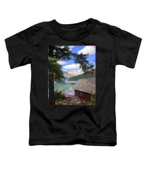 Kintla Lake Ranger Station Glacier National Park Toddler T-Shirt