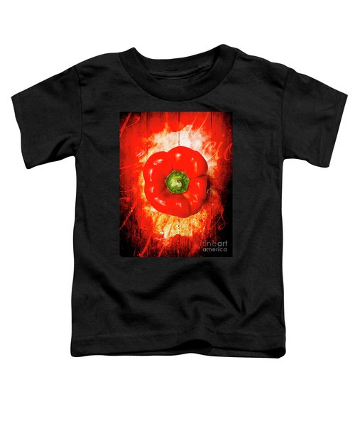 Kitchen Red Pepper Art Toddler T-Shirt