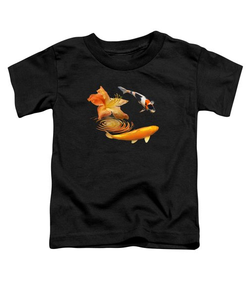 Koi With Azalea Ripples Square Toddler T-Shirt