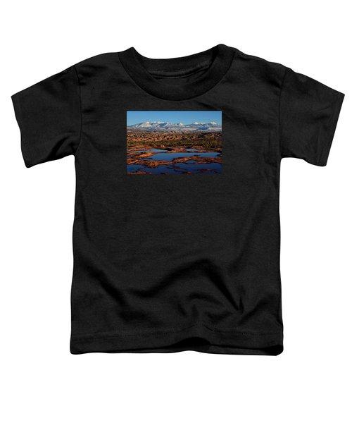 La Sal Mountains And Ephemeral Pools Toddler T-Shirt