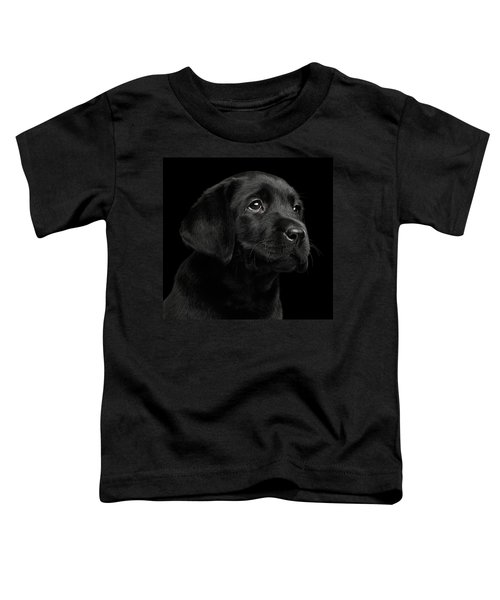 Labrador Retriever Puppy Isolated On Black Background Toddler T-Shirt