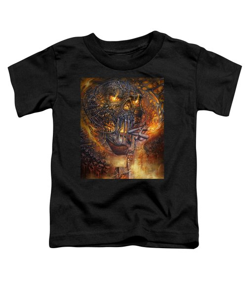Lady And Skull Toddler T-Shirt