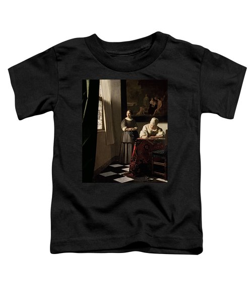 Lady Writing A Letter With Her Maid Toddler T-Shirt