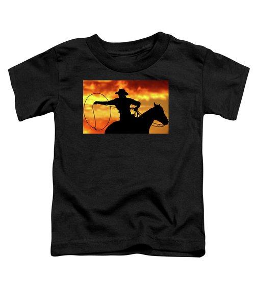 Lasso Sunset Cowboy Toddler T-Shirt