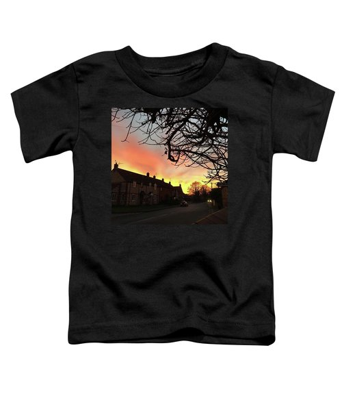 Last Night's Sunset From Our Cottage Toddler T-Shirt