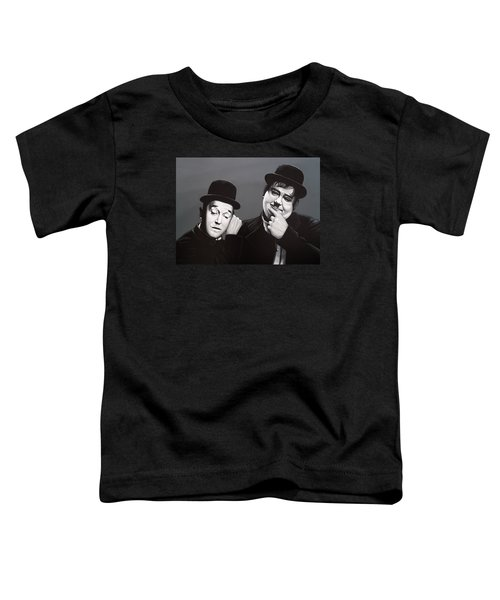 Laurel And Hardy Toddler T-Shirt by Paul Meijering