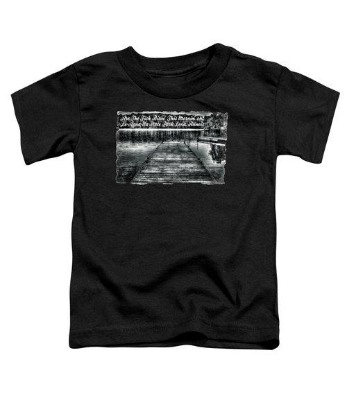 Le-aqua-na Boat Dock October Morning Toddler T-Shirt