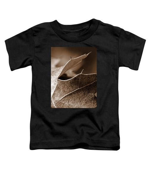 Leaf Study In Sepia II Toddler T-Shirt