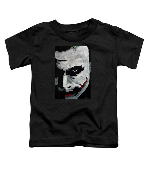 Ledger's Joker Toddler T-Shirt by Dale Loos Jr