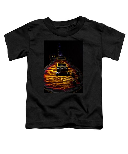Tri-burst Quilt Top Guitar Spotlight Series Toddler T-Shirt