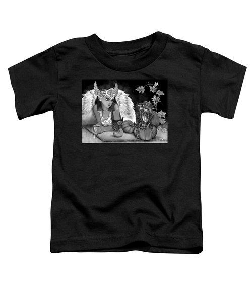 Let Me Explain - Black And White Fantasy Art Toddler T-Shirt
