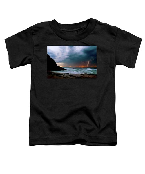 Lightning Strike Off Dana Point California Toddler T-Shirt