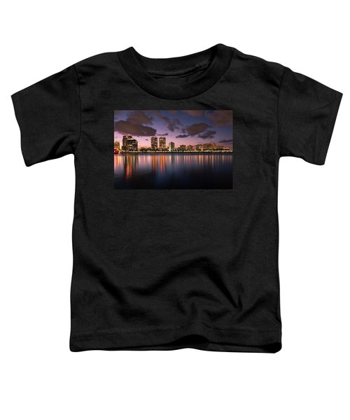 Lights At Night In West Palm Beach Toddler T-Shirt