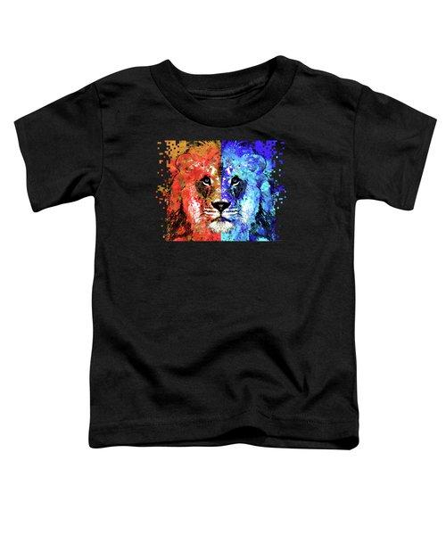 Lion Art - Majesty - Sharon Cummings Toddler T-Shirt by Sharon Cummings