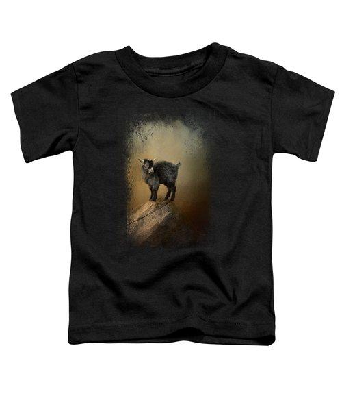 Little Rock Climber Toddler T-Shirt by Jai Johnson