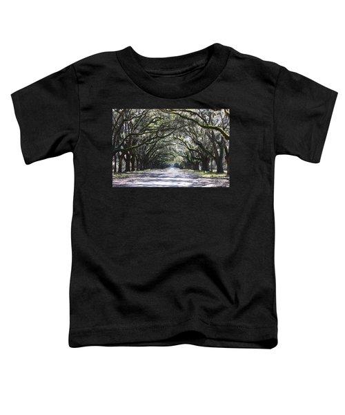 Live Oak Lane In Savannah Toddler T-Shirt