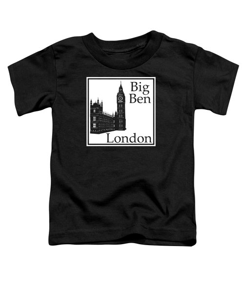 London's Big Ben In White Toddler T-Shirt by Custom Home Fashions