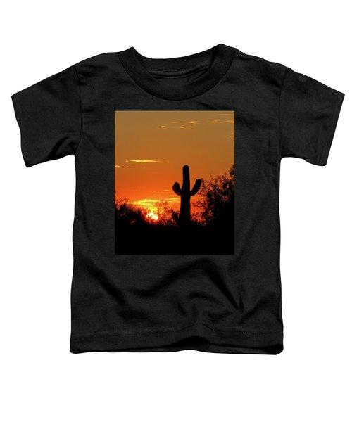 Lone Saguaro Sunrise Toddler T-Shirt