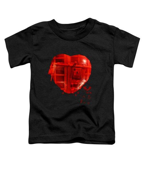 Love Locked Toddler T-Shirt by Linda Lees