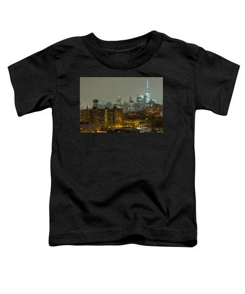 Lower Manhattan Cityscape Seen From Brooklyn Toddler T-Shirt