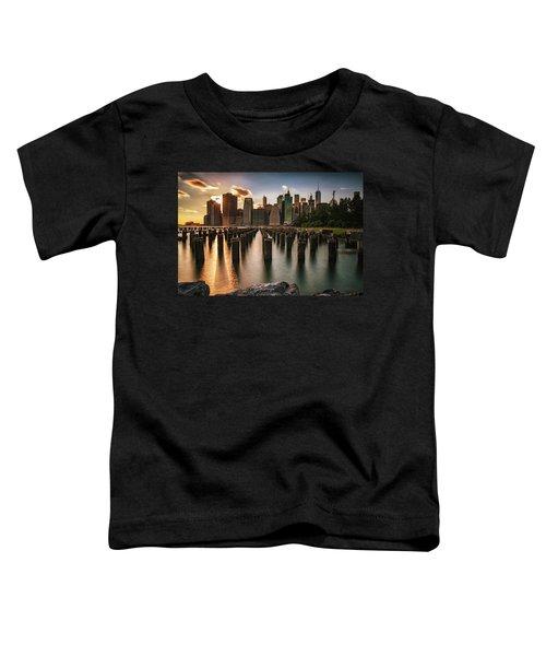 Lower Manhattan Sunset Twinkle Toddler T-Shirt