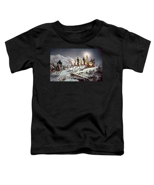 Ludwig II Of Bavaria Sleighing At Night From Neuschwanstein To Linderhof Toddler T-Shirt