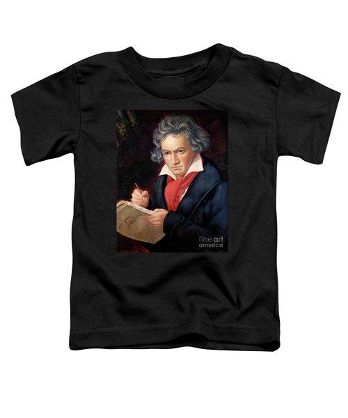 Ludwig Van Beethoven Composing His Missa Solemnis Toddler T-Shirt