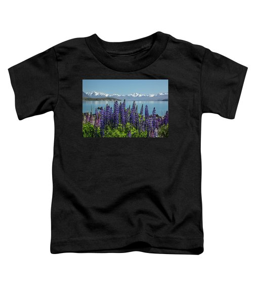 Lupines At Lake Tekapo Toddler T-Shirt