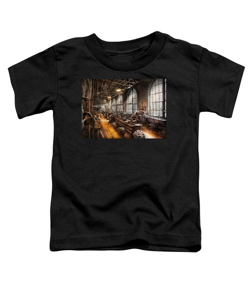 Machinist - A Room Full Of Lathes  Toddler T-Shirt