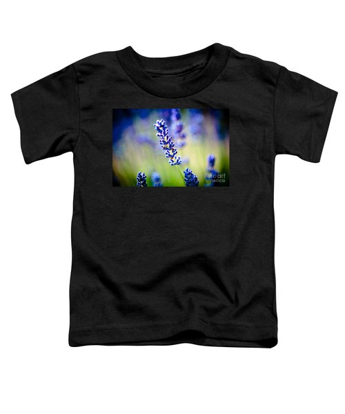 Macro Lavander Flowers In Lavender Field Artmif Toddler T-Shirt