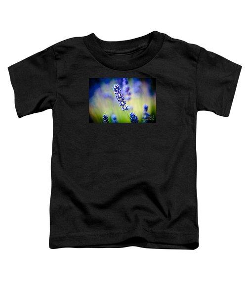 Macro Lavander Flowers In Lavender Field Artmif Toddler T-Shirt