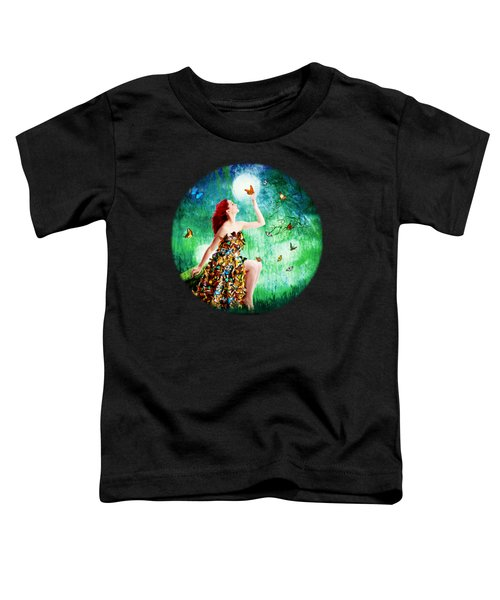 Madam Butterfly Toddler T-Shirt by Linda Lees