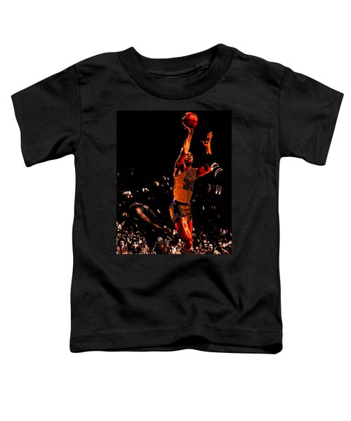 Magic Johnson Lean Back II Toddler T-Shirt by Brian Reaves