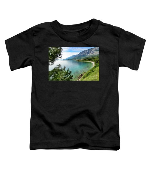 Makarska Riviera White Stone Beach, Dalmatian Coast, Croatia Toddler T-Shirt