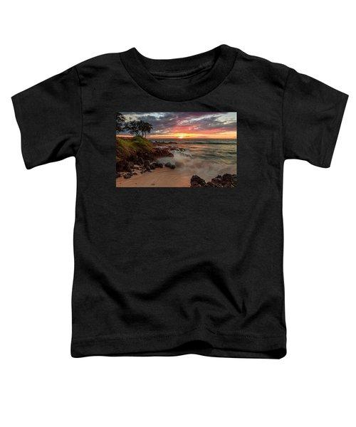 Maluaka Beach Sunset Toddler T-Shirt
