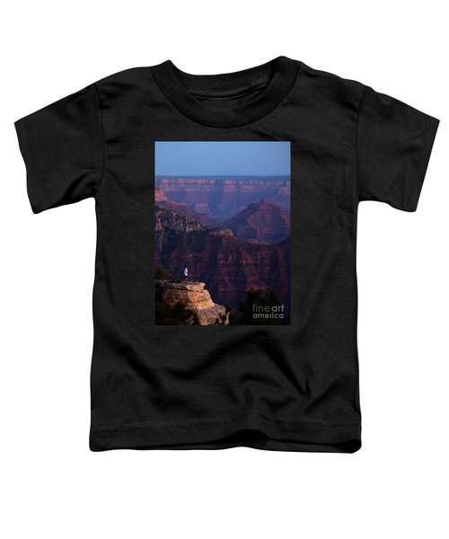 Man Standing On The Edge Toddler T-Shirt