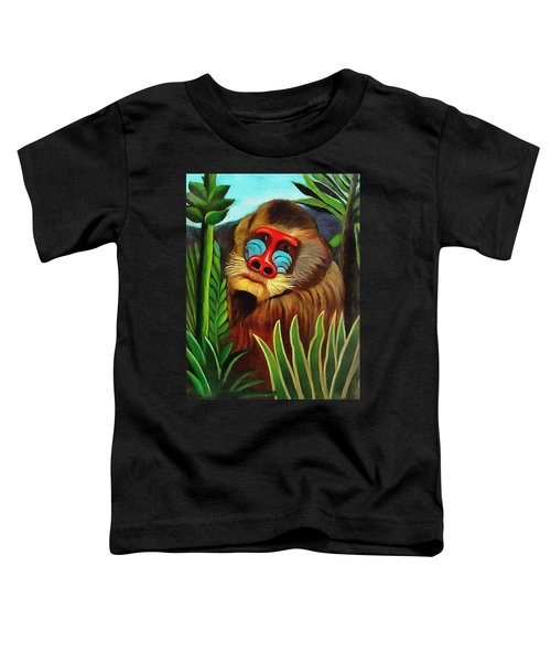 Mandrill In The Jungle Toddler T-Shirt