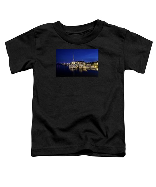 Manteo Waterfront Marina At Night Toddler T-Shirt