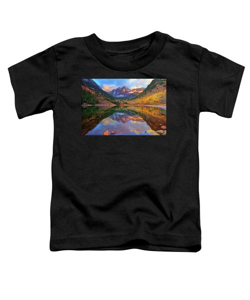Toddler T-Shirt featuring the photograph Maroon Lake Dawn by Greg Norrell