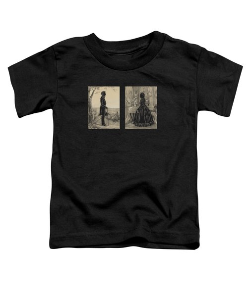 Mary Todd And Abraham Lincoln Silhouettes Toddler T-Shirt
