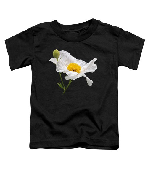 Matilija Poppy On Black Toddler T-Shirt