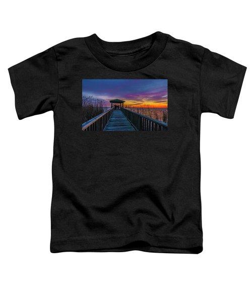Toddler T-Shirt featuring the photograph Mattamuskeet Lake by Donald Brown