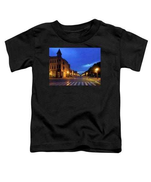 Menominee Michigan Night Lights Toddler T-Shirt
