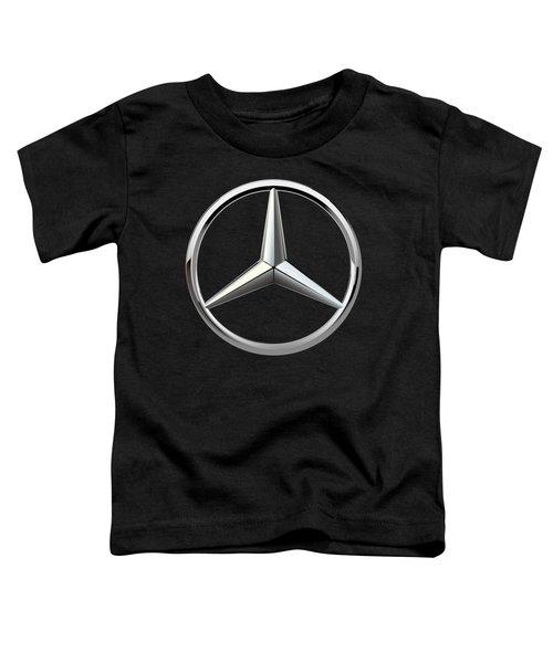 Mercedes-benz - 3d Badge On Black Toddler T-Shirt by Serge Averbukh