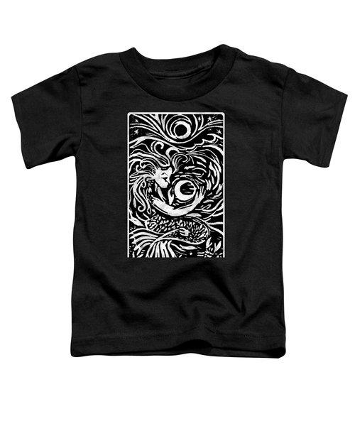 Mermaid Moon Toddler T-Shirt by Katherine Nutt