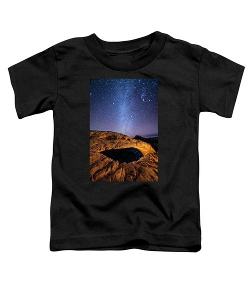 Toddler T-Shirt featuring the photograph Mesa Arch And Milky Way by Whit Richardson