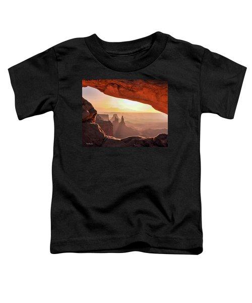 Mesa Arch At Sunrise, Washer Woman Formation , Canyonlands National Park, Utah Toddler T-Shirt
