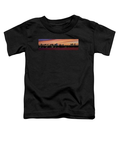 Miami Sunset Panorama Toddler T-Shirt by Gary Dean Mercer Clark