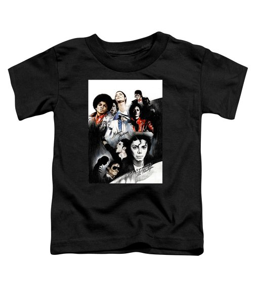 Michael Jackson - King Of Pop Toddler T-Shirt by Lin Petershagen